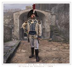 Spain; Line Infantry Regiment Valencia, Captain, 1808