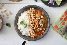 Spicy Coconut Curry with Sweet Jasmine Rice is a hearty and satisfying vegetarian based dish that combines sweet, spicy, and curry flavors in one easy dish.