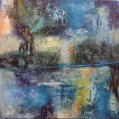 Synesthesia by Chris Foster Encaustic and Oil on Panel 30 in x 30 in