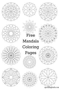 Free Coloring Pages Mandala. 30 Free Coloring Pages Mandala. Mandala From Free Coloring Books for Adults 23 Mandalas Mandala Coloring Pages, Coloring Pages To Print, Printable Coloring Pages, Coloring Pages For Kids, Coloring Books, Coloring Sheets, Image Mandala, Mandala Dots, Mandala Pattern