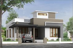 home is where the heart is Single Floor House Design, House Front Design, Modern House Design, Dream House Plans, Modern House Plans, Small House Plans, Independent House, Villa Design, Style At Home