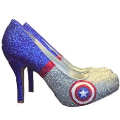 Take  10 OFF with CODE  SPARKLE10 www.glittershoeco.com Sparkly Superhero Glitter  Heels. Glitter Shoe Co 36c576047