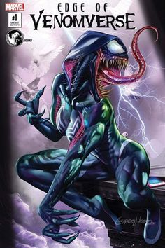 Edge of Venomverse #1 (2017) Unknown Comic Books Exclusive Variant Cover by Greg Horn