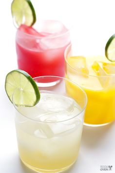 Skinny Margaritas + How To Make A Skinny Margarita Bar | gimmesomeoven.com