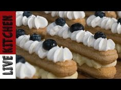 ASMR Εύκολα Παστάκια σε 10' που θα Πάθετε Πλάκα !!!Easy Amazing Dessert in 10' Live Kitchen - YouTube Kitchen Living, Nutella, Waffles, Breakfast, Youtube, Food, Meal, Kitchen Diner Lounge, Eten