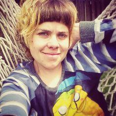 Me Made May Day 17: Hanging in my hammock wearing a T-shirt hack Linden. #memademay #mmmay16 #lindensweatshirt #grainlinestudio #adventuretime by epfooo
