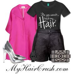 No you can not touch my hair. Natural Hair Shirts, Natural Hair Styles, Antonio Berardi, Fashion Pictures, Clothing Items, Karl Lagerfeld, Autumn Fashion, Canning, Shoe Bag
