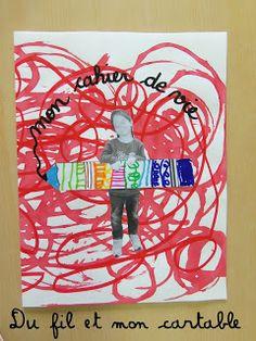 Du fil et mon cartable : Couverture Cahier de Vie Diary Covers, Color Shapes, Art For Kids, Back To School, Cool Art, Scrap, Animation, Activities, Frame