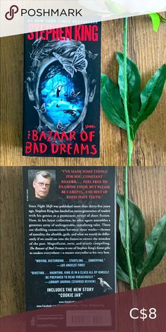 Book 📚 The Bazaar of Bad Dreams by Stephen King Horror novel by Stephen King Book Other The Unexpected Everything, Mew York Times, Before Trilogy, Wicked Book, Feelings Book, The 5th Wave, Book City, Five Love Languages, King Book
