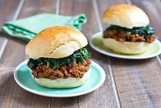 Jerk Sloppy Joes With Coconut Creamed Spinach