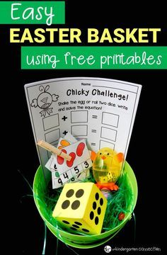 This easy Easter basket for kids is perfect to make for a child in your life this Easter! It includes free printables so you don't have to break the bank! #easter #easterbasket #educationaleasterbasket #freeprintable