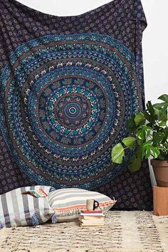 Magical Thinking Turquoise Elephant Medallion Tapestry - Urban Outfitters // $49