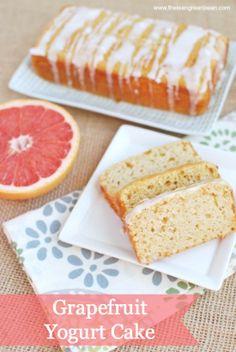 Grapefruit Yogurt Cake via @theleangrnbeanblog