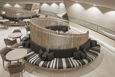 Australian architect designs interiors in Jean Nouvel's National Museum of Qatar Hall Interior, Modern Interior Design, Australian Architecture, Interior Architecture, Restaurants, Museum Shop, Design Strategy, Design Museum, Architect Design