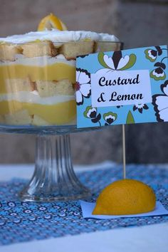 Lemon Trifle  -I think I may do a cupcake version of this Trifle table for the wedding