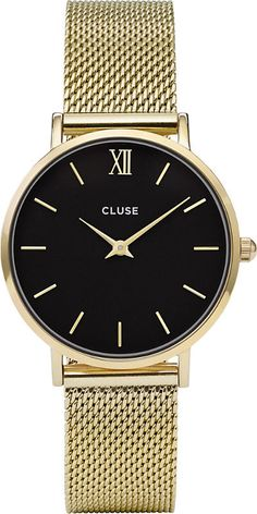 CLUSE CL30012 Minuit stainless steel gold mesh watch acba723f42