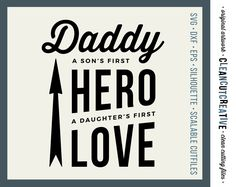 Daddy Quote Saying Fathers Day Dad - SVG Studio3 DXF EPS png - cut file printable clipart - Cricut and Silhouette - clean cutting files by CleanCutCreative on Etsy