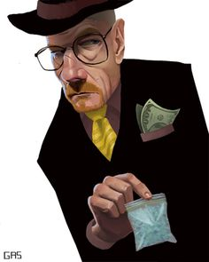 Black and White Walter White Breaking Bad Best Tv Shows, Best Shows Ever, Illustration Sketches, Illustrations Posters, Caricatures, Breaking Bad Art, Walter White, Cultura Pop, Funny Faces