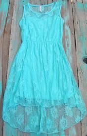 Western Lace High Low Dress $29.99 I like this dress