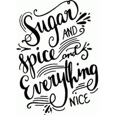 Silhouette Design Store: sugar and spice and everything nice