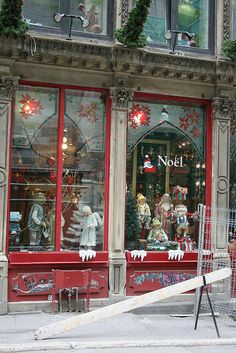 I loved Montreal.Christmas store in Old Montreal