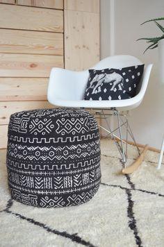 Make it boho : DIY | Mud Cloth Pouf