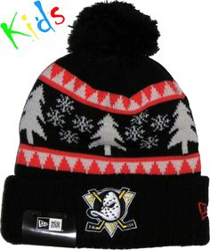 7b331b45d31 Anaheim Mighty Ducks New Era Kids Snow Pine Bobble Hat