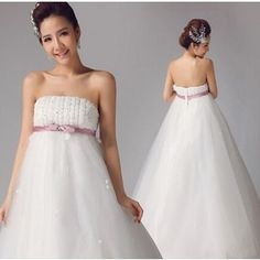 ウエディングドレス二次会 ウェディングドレス花嫁 結婚式披露宴 パーティードレス Aライン 妊婦 素敵豪華 安いドレス通販