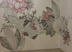 Wall Murals, Wall Art, Colouring, Zentangle, Flower Art, Print Patterns, Abstract Art, Doodles, Walls