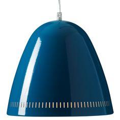 Large Metal Dynamo Pendant Lamp - Petrol