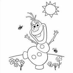 Just Coloring Pages: Olaf coloring pages from frozen Printable coloring sheets - Frozen Coloring Pages, Summer Coloring Pages, Colouring Pages, Printable Coloring Pages, Coloring Pages For Kids, Coloring Sheets, Free Coloring, Coloring Books, Kids Coloring