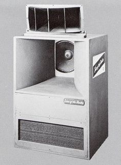 The legendary Altec A7 Voice Of The Theater loudspeaker, made from 1950 to the mid-1980s, was featured in Saturday Night Fever. Popular in small theaters and in the home, it has a truly impressive sound, but lacks bass below 70 Hz or treble above about 15 kHz. Now you know why mid-1970s Columbia records sound like they do -- the A7 was used in many Columbia Records control rooms. Altec has recently reissued an improved A7.