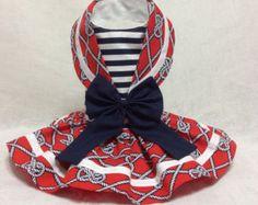 Nautical Sailor Dog Dress by LittlePawsBoutique on Etsy