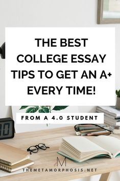 The best college essay hacks to help you write your best paper yet! These college essay tips will get you an A+ every time! #college #collegeessay #collegepaper
