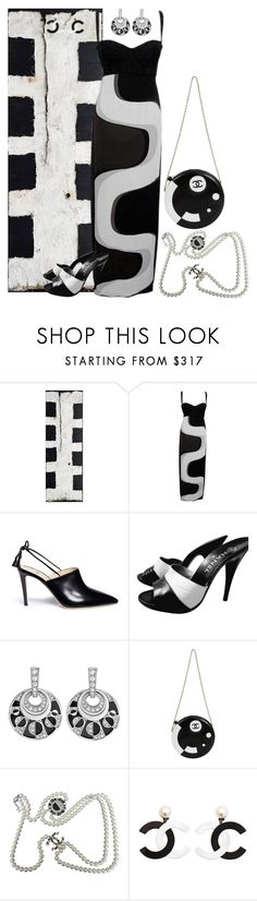 """""""Untitled #6131"""" by lovetodrinktea ❤ liked on Polyvore featuring Versace, Alexander White, Chanel and Bulgari"""