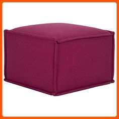 Safavieh Mercer Collection Elaine Ottoman, Berry - Improve your home (*Amazon Partner-Link)