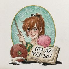 Ginny 2.0! It's basically the same, but I'm satisfied with the face now, plus I added flowers in the background because she's special (she's one of my favorite characters) and also because Harry smells flowers in the Amortentia (love potion) that also happens to smell of Ginny... #theimaginativeillustrator