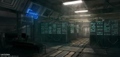 WIP - Sci Fi Server Room - Polycount Forum