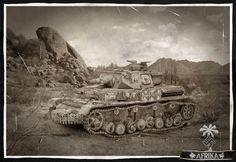 Panzer IV DAK - photo manipulation