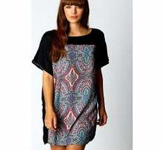 boohoo Lindy Paisley Front Panel Shift Dress - stone Pretty paisley is perfect for day or night dressing. http://www.comparestoreprices.co.uk/dresses/boohoo-lindy-paisley-front-panel-shift-dress--stone.asp