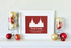 Looking for the perfect for your sweetheart this Holiday Season? The personalized lds temple picture would make a beautiful Christmas Gift for your wife. She will love this temple picture, customized to commemorate your wedding day! This lds temple picture will look wonderful on any wall, shelf or table top, and is sure to brighten and beautify the home, wherever it is placed!   The wording, background color and temple selection can be chosen to suit your specifications. Listing Details…