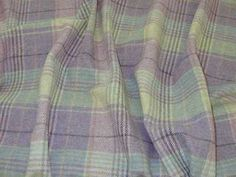 Curtain Fabric Highland Wool Tartan Heather Check Plaid Upholstery By The Metre