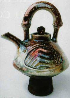 Raku teapot