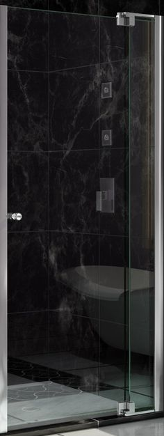 "Allure 73"" x 41"" Pivot Frameless Shower Door"