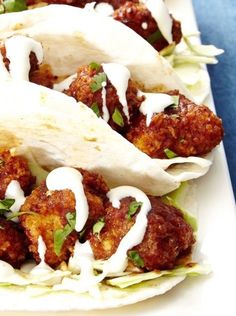 CRACK CHICKEN TACO with CABBAGE, CILANTRO & RANCH [delish]