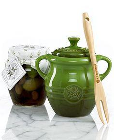 Le Creuset Olive Stoneware Jar