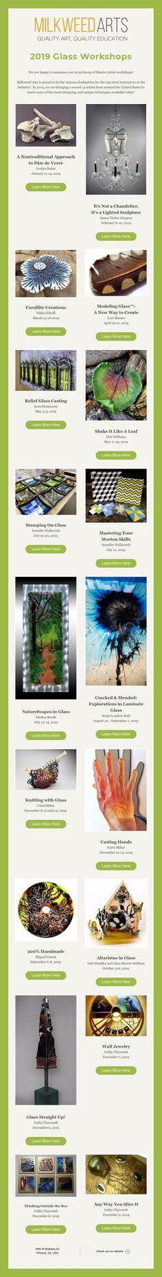 2019 Glass Workshops Artist Workshop, Top Artists, Glass, Drinkware, Corning Glass, Barware