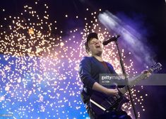 Patrick Stump of Fall Out Boy performs at The O2 Arena on March 31, 2018 in London, England.