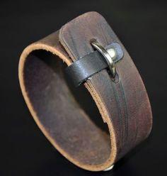 Handmade-Vintage-Cool-Single-Band-Surfer-Leather-Bracelet-Wristband-Cuff-V01