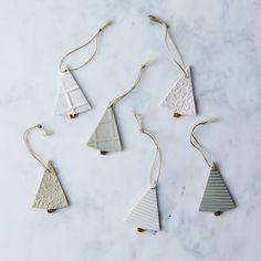 Textured Ceramic Tree Ornaments (Set of 3) on Food52